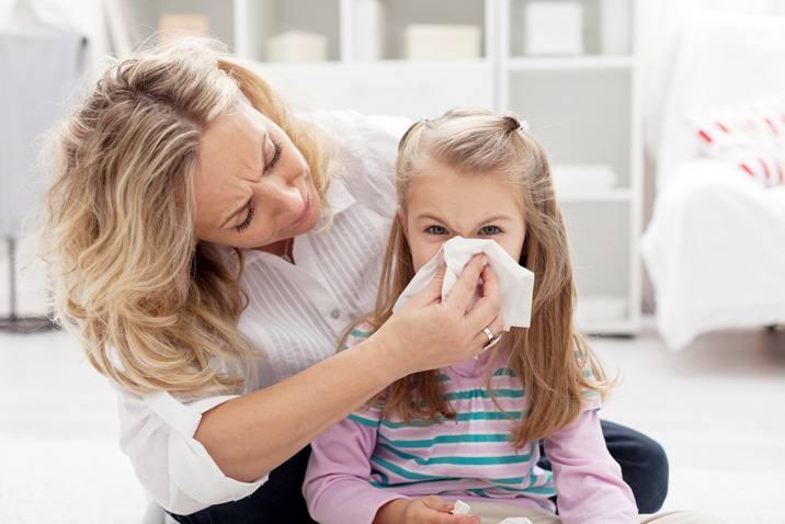 у детей аллергия и нос заложен